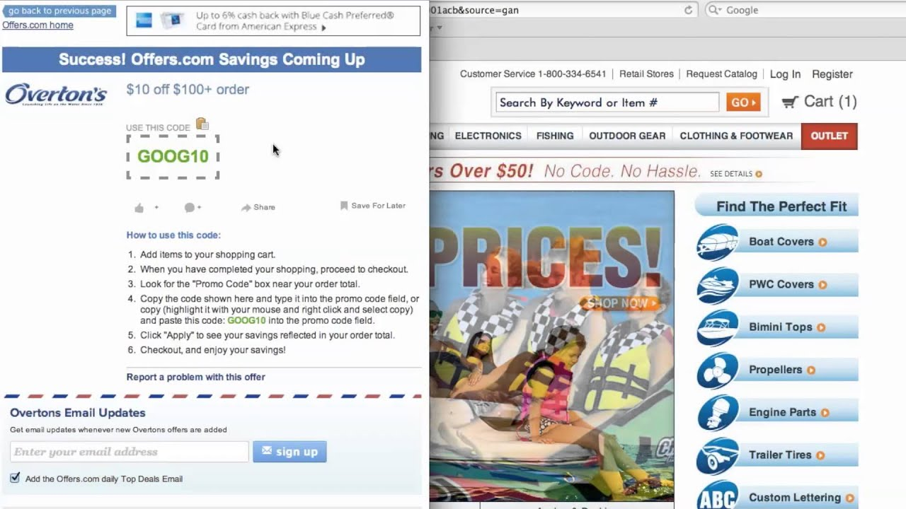 Overton S Coupon Code How To Use Promo Codes And Coupons For Overton S Com
