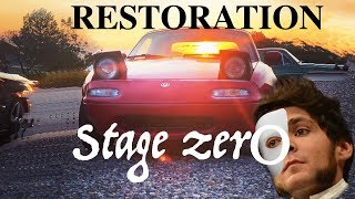 Miata Restoration 1: Horn Upgrade, Clutch Adjust, Seafoam, Low Idle, Parts Car