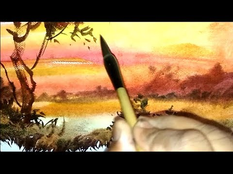watercolor painting landscape | quick transparent watercolor demonstration | Art Explain | EP11-S1