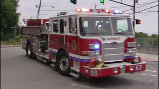 Paterson NJ Fire Department Engine 7 Responding on McBride Ave extension  6-23-2018