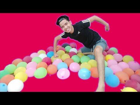 PHD | Phá Hủy 80 Quả Bóng Bay Nước Bằng Mông | Destroy The Water Balloon With The Butt
