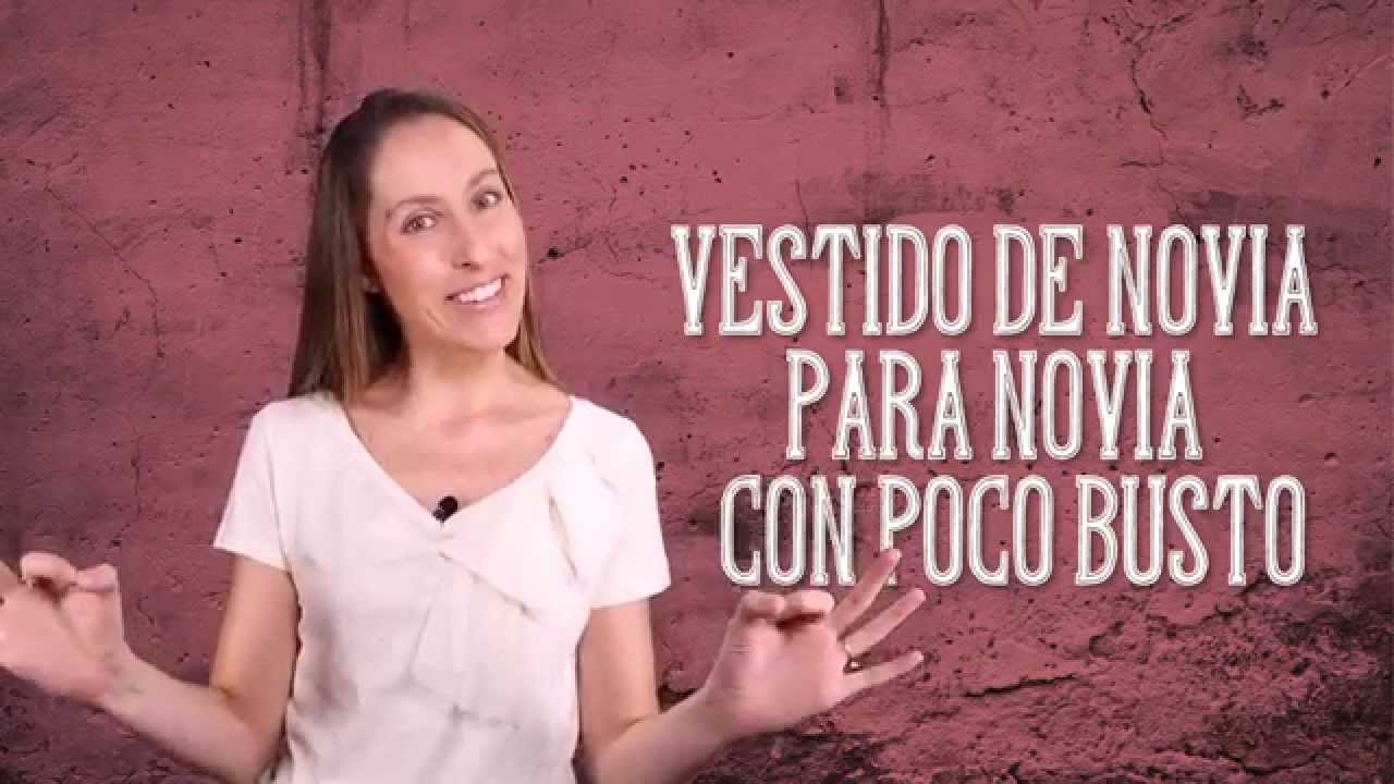 Vestido para novia con poco busto - El Blog de María José - YouTube