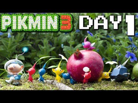 Pikmin 3: Hunger Pains - DAY 1 (Nintendo Wii U HD Gameplay Walkthrough)