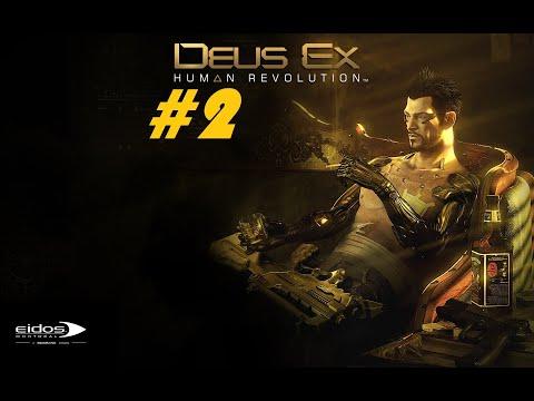 Let's play Deus Ex: Human Revolution [BLIND+HARD] #2 - Techno-primitivism First