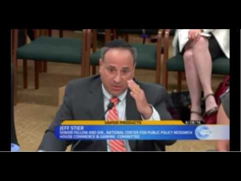 Jeff Stier Testifies About E-Cigarettes Before the Washington State Legislature