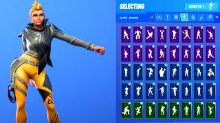 VEGA SKIN SHOWCASE WITH ALL FORTNITE DANCES & EMOTES