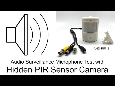 Audio Surveillance Microphone Demo using Motion Detector Security Camera