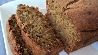 Whole Wheat Banana Bread - No Refined Sugar & Low Fat!