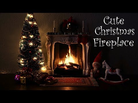 Cute Christmas Fireplace Scene with Soft Crackling Fire Sounds