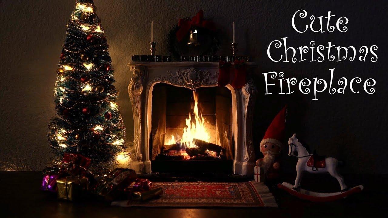 Real Christmas Fireplace Scene