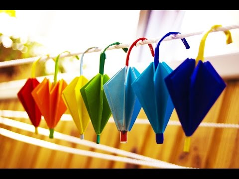 How to make a paper  umbrella origami