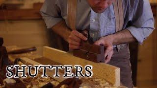 Our timber frame cabin part XIX: WOODEN WINDOW SHUTTERS