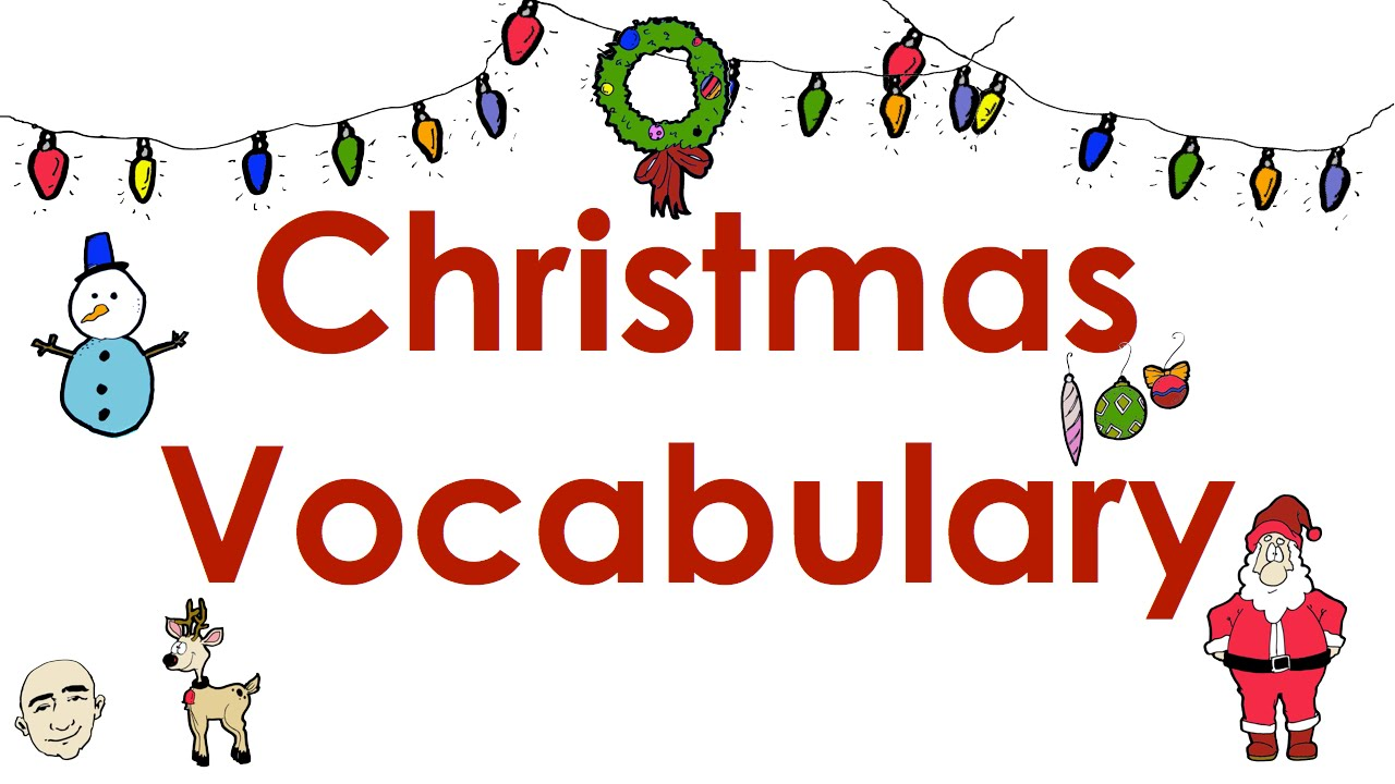 Christmas Vocabulary  Easy English Practice  Esl  Youtube