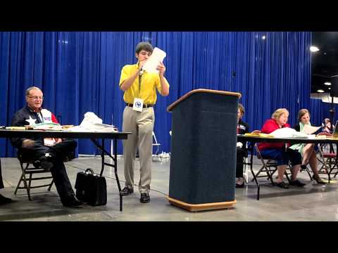 Enthusiastic young man runs for Texas Delegate to the Republican National Convention 2012