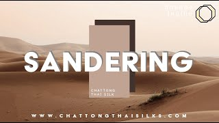 CHATTONG ผ้าไหม 2 เส้น ทอมือ EP. Sandering ( PANTONE NO. 4735 C )