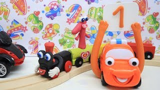 COCO TRAIN Learning Numbers 1 - 10 Clay Play Doh Cartoons For Kids