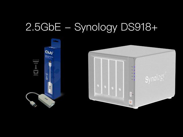 2.5GbE für Synology DS918+ (Nachrüsten via USB)