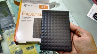 Unboxing Seagate 2 TB External Hard Disk with 3 0 USB