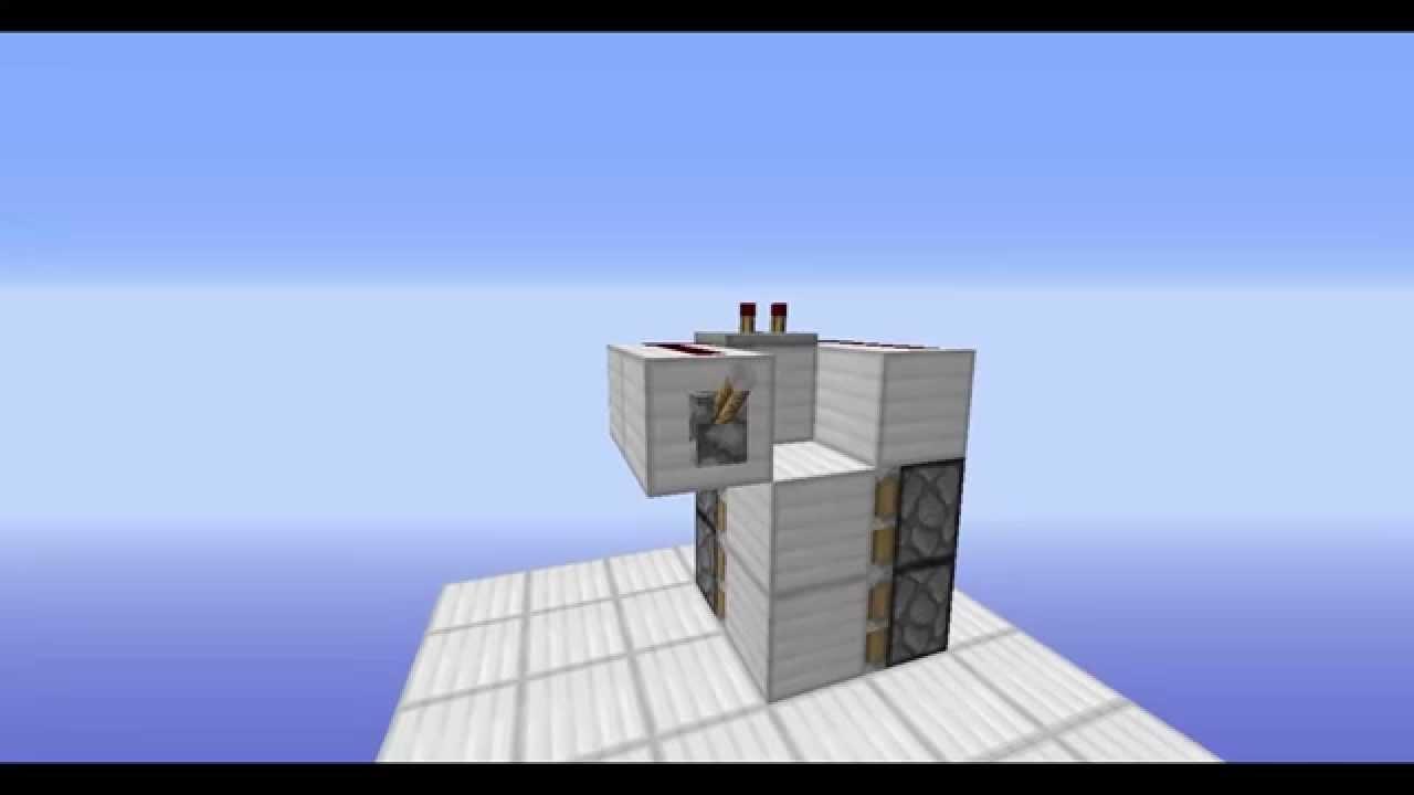 Minecraft: Redstone: Flush/Hidden 1x2 Piston Door (New And Improved) [OLD] - YouTube & Minecraft: Redstone: Flush/Hidden 1x2 Piston Door (New And ... Pezcame.Com