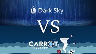 Dark Sky vs Carrot Weather - iPhone and Apple Watch Walkthrough