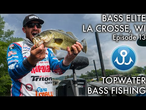 LaCrosse Elite Series Topwater Bass Fishing | Wheeler Fishing Episode 13