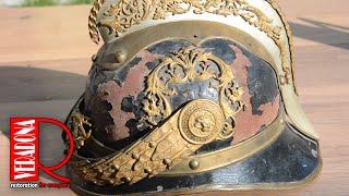 Antique Firefighter Helmet Restoration