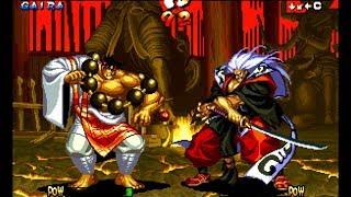 Samurai Shodown III: Gaira playthrough / lvl-8 bust 【60fps】