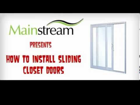 How To Install Sliding Closet Doors Youtube