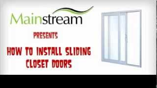 How to Install Sliding Closet Doors