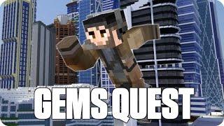 ¡CARRERA POR LA CIUDAD! GEMS QUEST | Minecraft