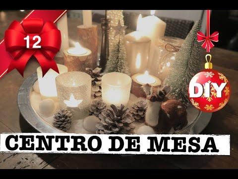 Como hacer centro de mesa navide o decoracion navidad - Youtube centros de mesa navidenos ...