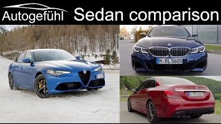 Alfa Giulia Veloce vs BMW 3-Series 340i vs Mercedes C-Class C43 AMG comparison REVIEW
