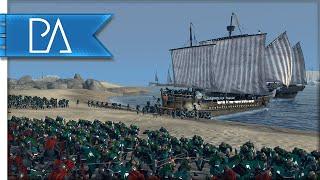 GAME OF THRONES BEACH ASSAULT - Kings of Winter Total War Mod Gameplay
