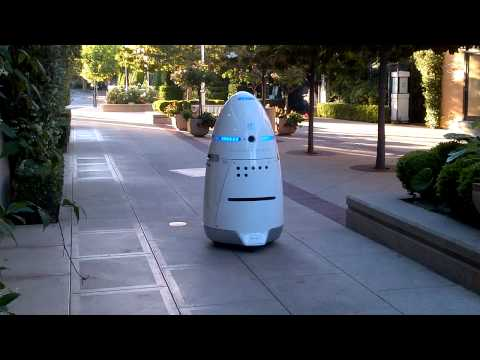 Stanford mall California security robot.