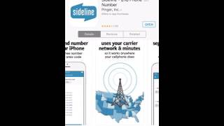 Sideline -FREE 2nd Number For Your iPhone! Text & Call FREE!!