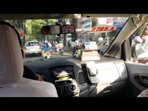 Taxi ride to the airport as we depart Vietnam