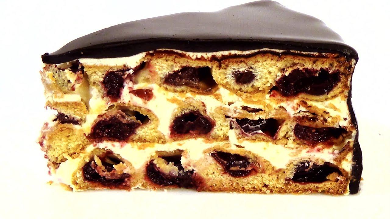 Рецепт торт соты с вишней