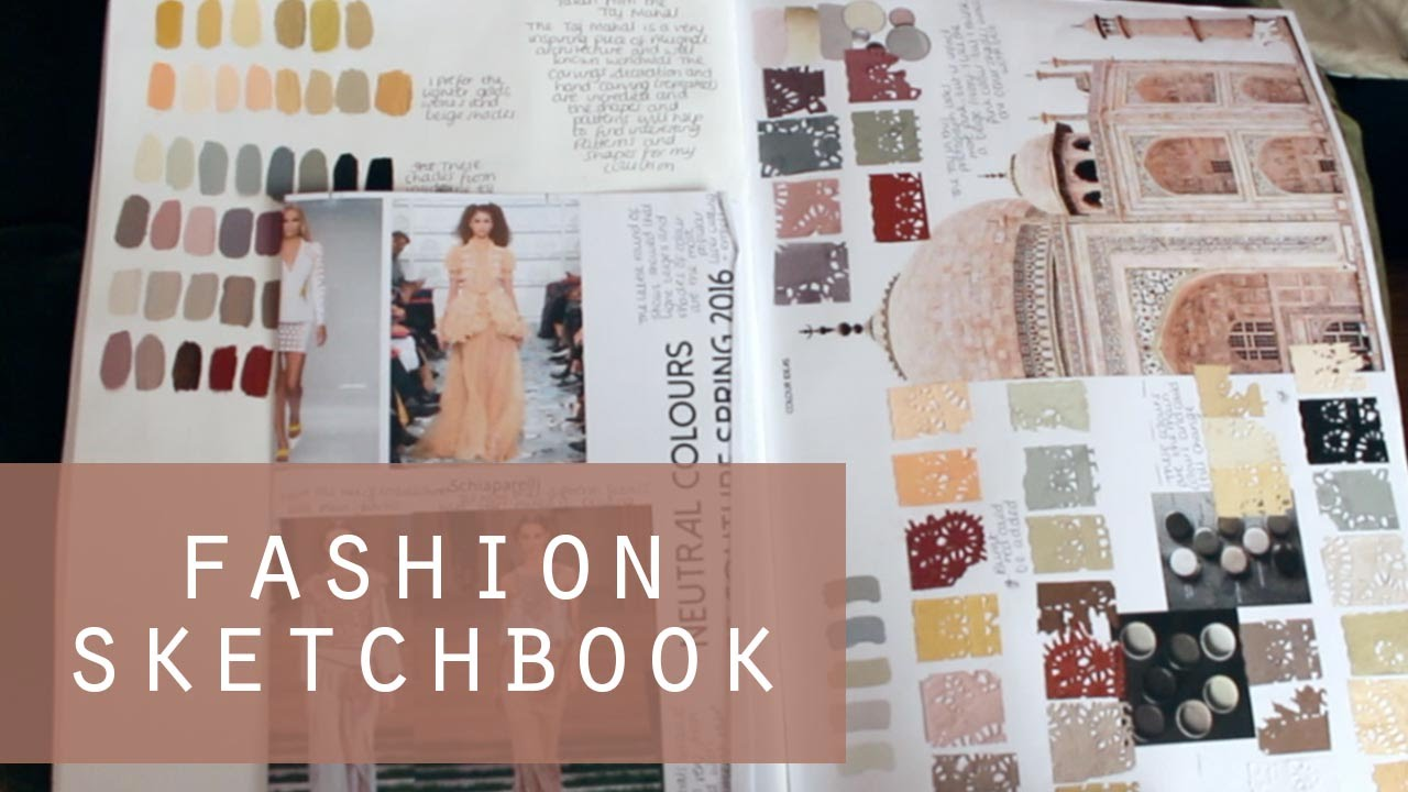 Ba Fashion And Textiles Sketchbook Flick Through 1st Class Degree Youtube