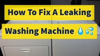 How To Fix A Leaking Washing Machine Kenmore 80 Series DIY