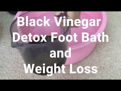 Black Vinegar Detox Foot Bath and Weight Loss - Massage Monday #452