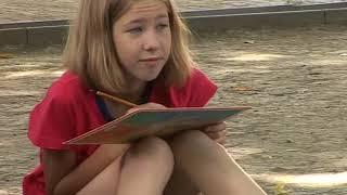 Воспитанники художественной школы уроки проводят на свежем воздухе