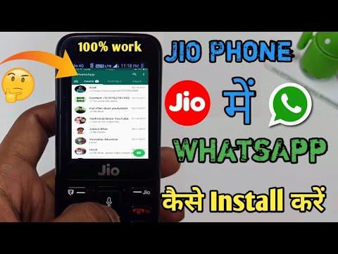 How To Install WhatsApp & facebook In JIO PHONES !!Hindi