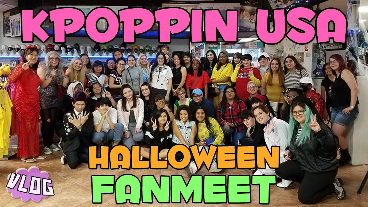 kpoppin usa halloween fanmeet ☆ vlog - youtube