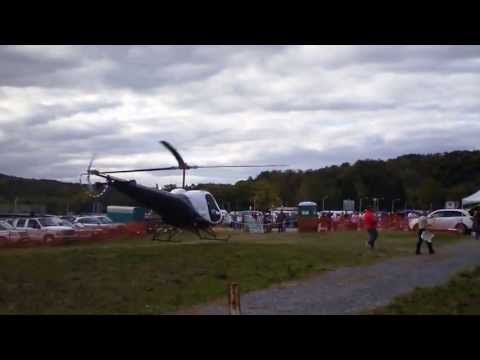helicopter flying around bloomsburg fair