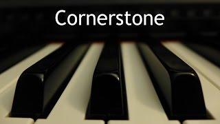 Cornerstone (Hillsong) - piano instrumental cover with lyrics