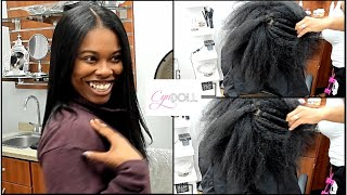 SILK PRESS ON NATURAL HAIR! We have some tangled hair honey!!! !!