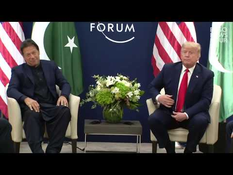 WATCH: Donald Trump talks with Pakistani Prime Minister Imran Khan at World Economic Forum in Davos
