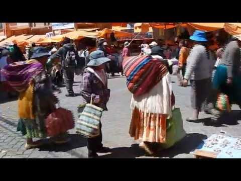 Calles y mercados. La Paz y El Alto. Bolivia