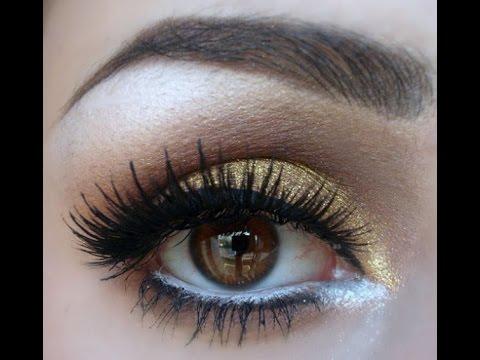 Пошаговый вечерний макияж для карих глаз