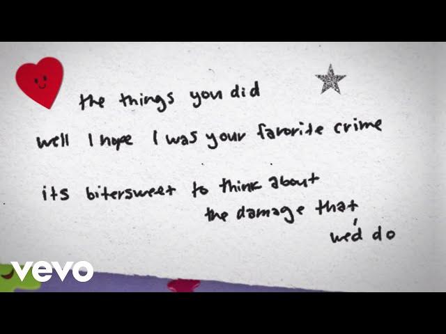 Olivia Rodrigo - favorite crime (Lyric Video)